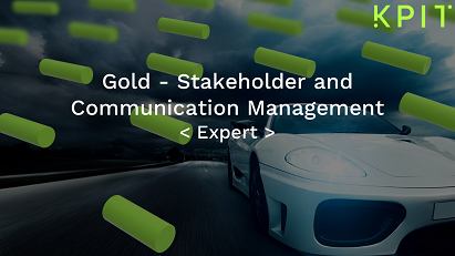 Gold - Stakeholder and Communication Management - KAIZEN CEIPRMIE007