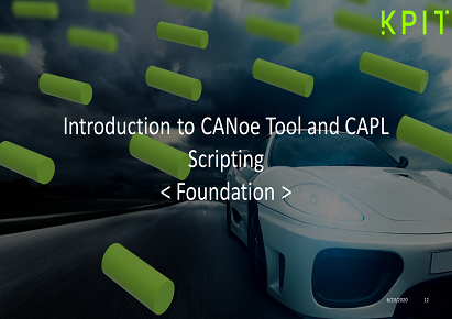 Introduction to CANoe Tool and CAPL Scripting - KAIZEN CEITECIF007
