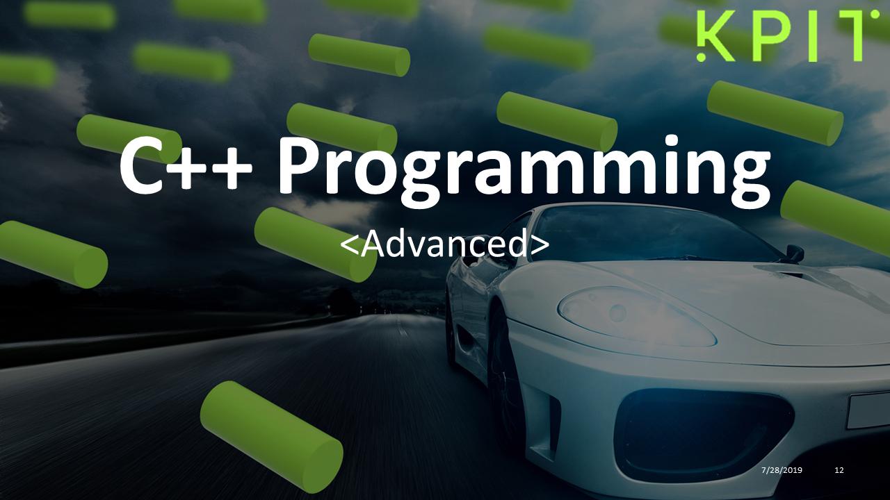 Advanced C++ Programming | KPIT Technologies Ltd  eduOnline