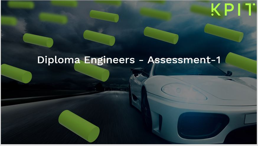 Diploma Engineers - Assessment-1 100002